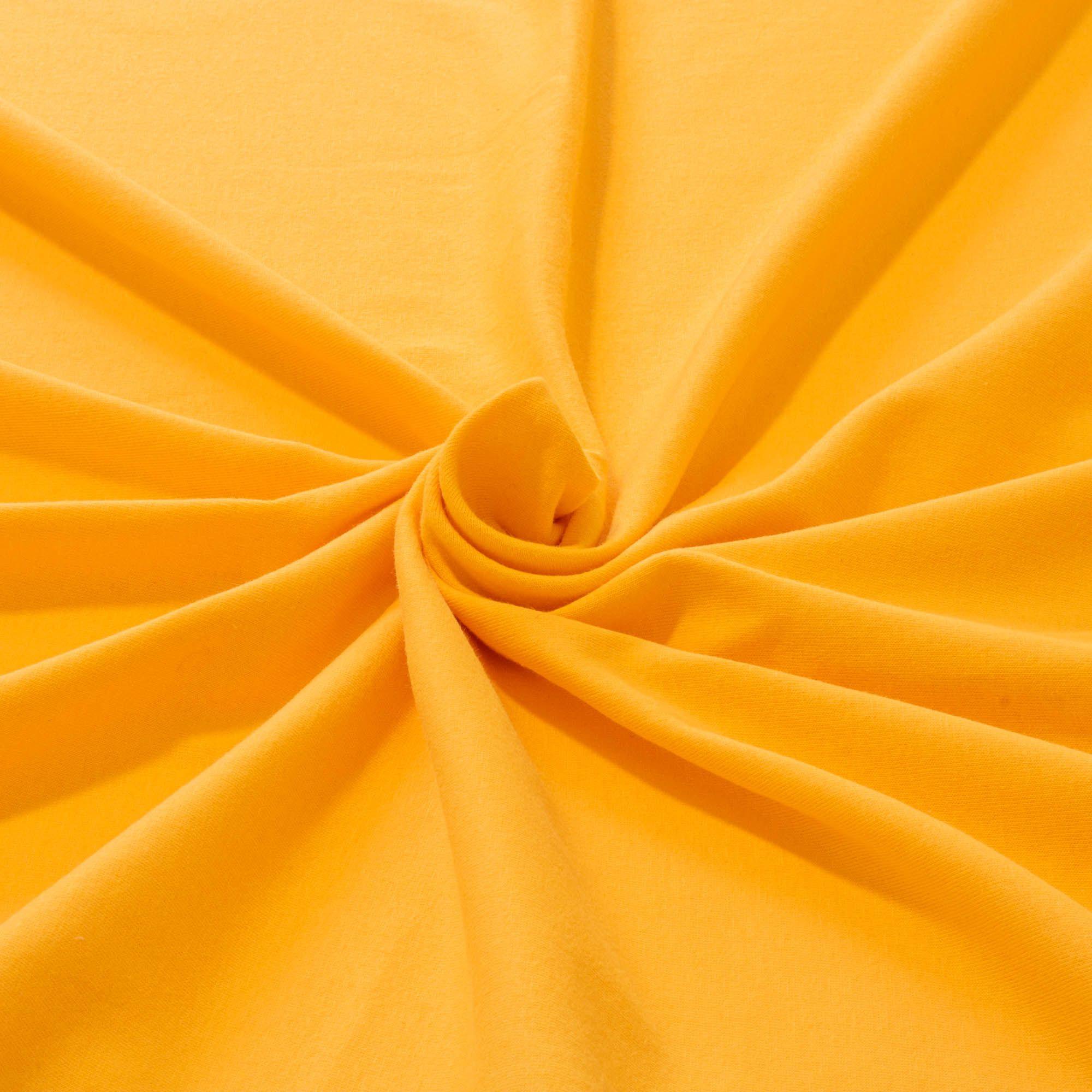 Tecido Malha de Algodão 100% Algodão Amarelo Ouro