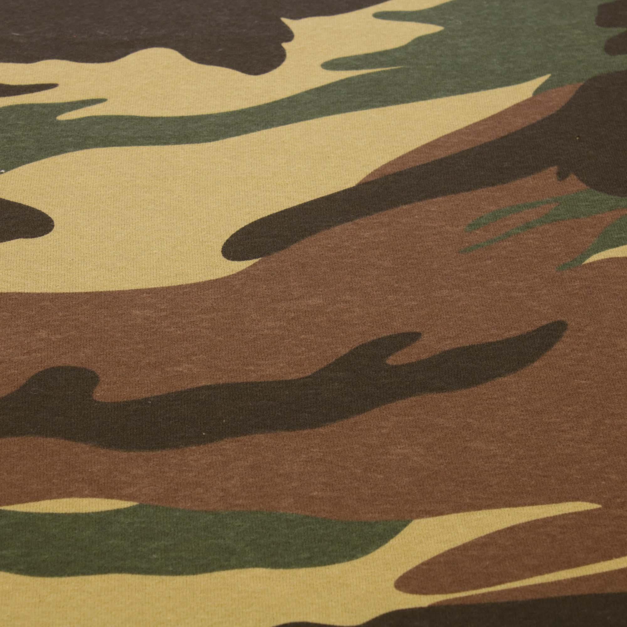 Tecido Malha de Algodão Camuflada 100% Algodão Verde
