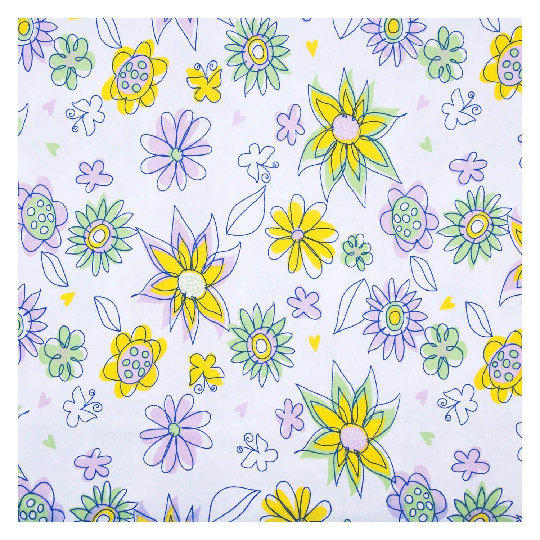 Tecido Malha de Algodao Estampado Flores 1,60 m Largura