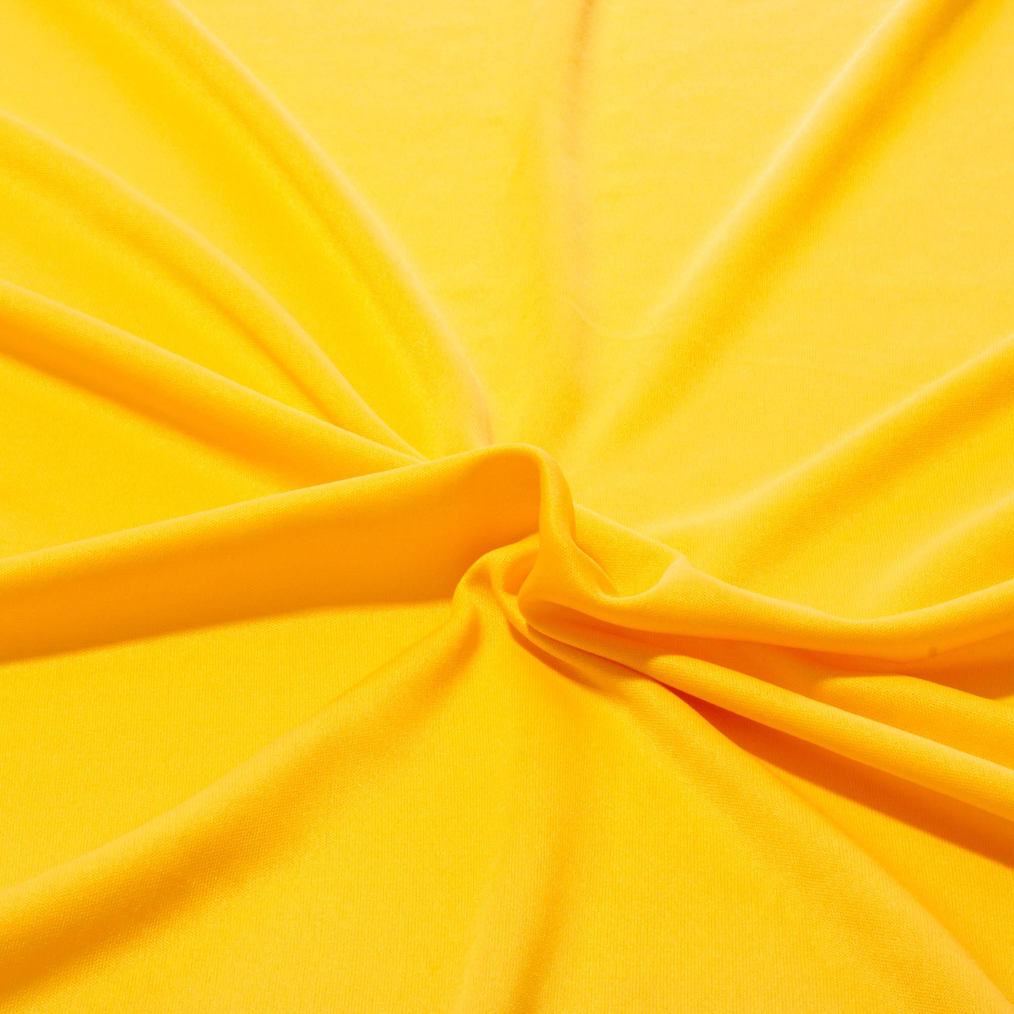 Tecido Malha Helanca Light 100% Poliester 1,80 Mt Largura Amarelo Ouro