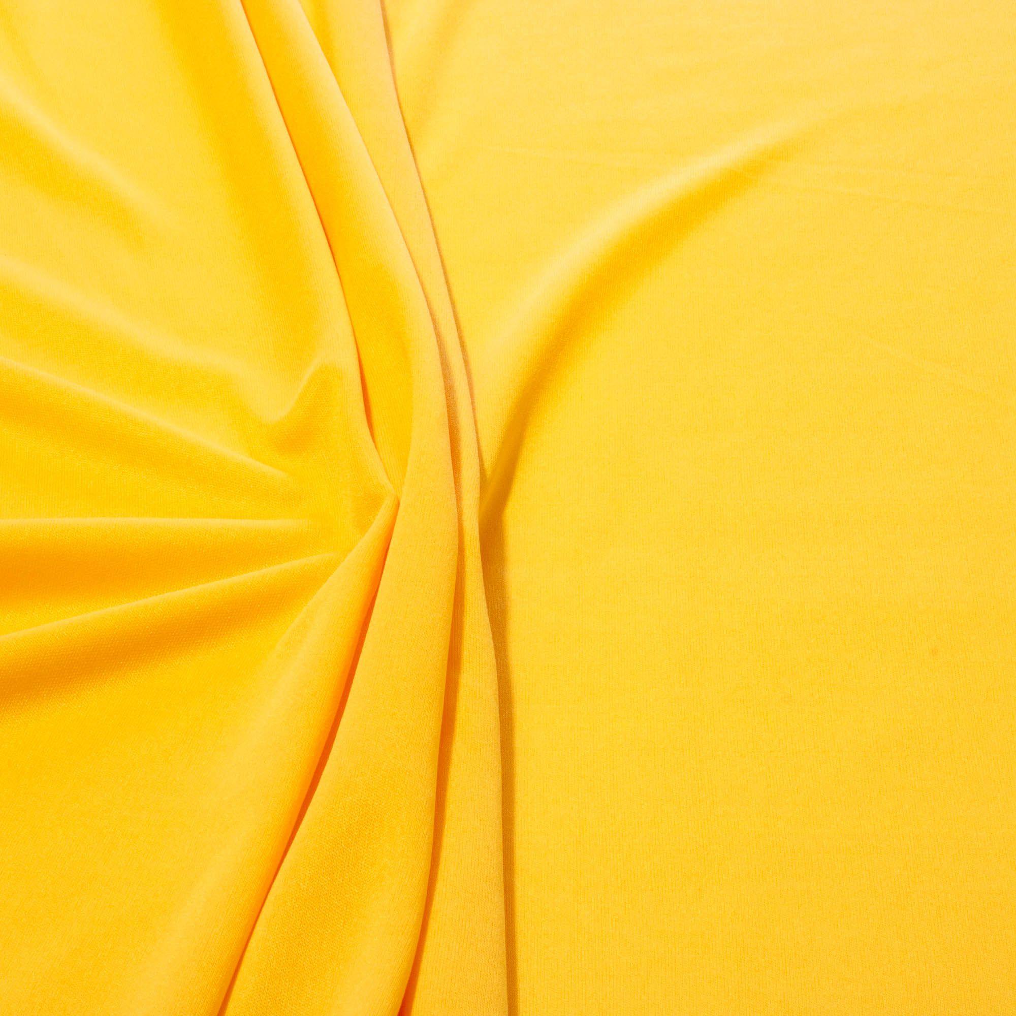 Tecido Malha Helanca Light Amarelo Ouro 100% Poliester 1,80 mt Largura