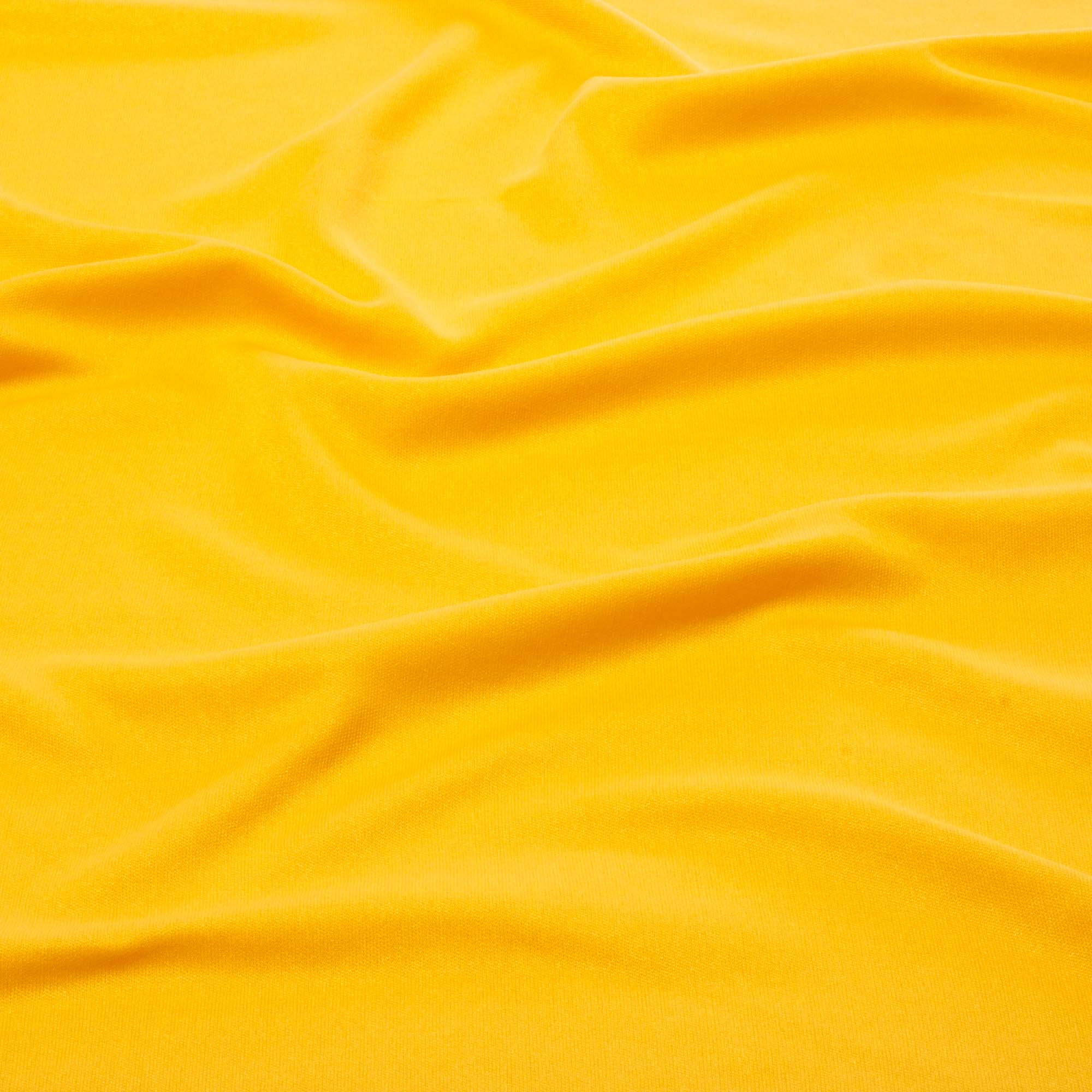 Tecido Malha Helanca Light Amarelo Ouro 100% Poliester 1,80 m Largura