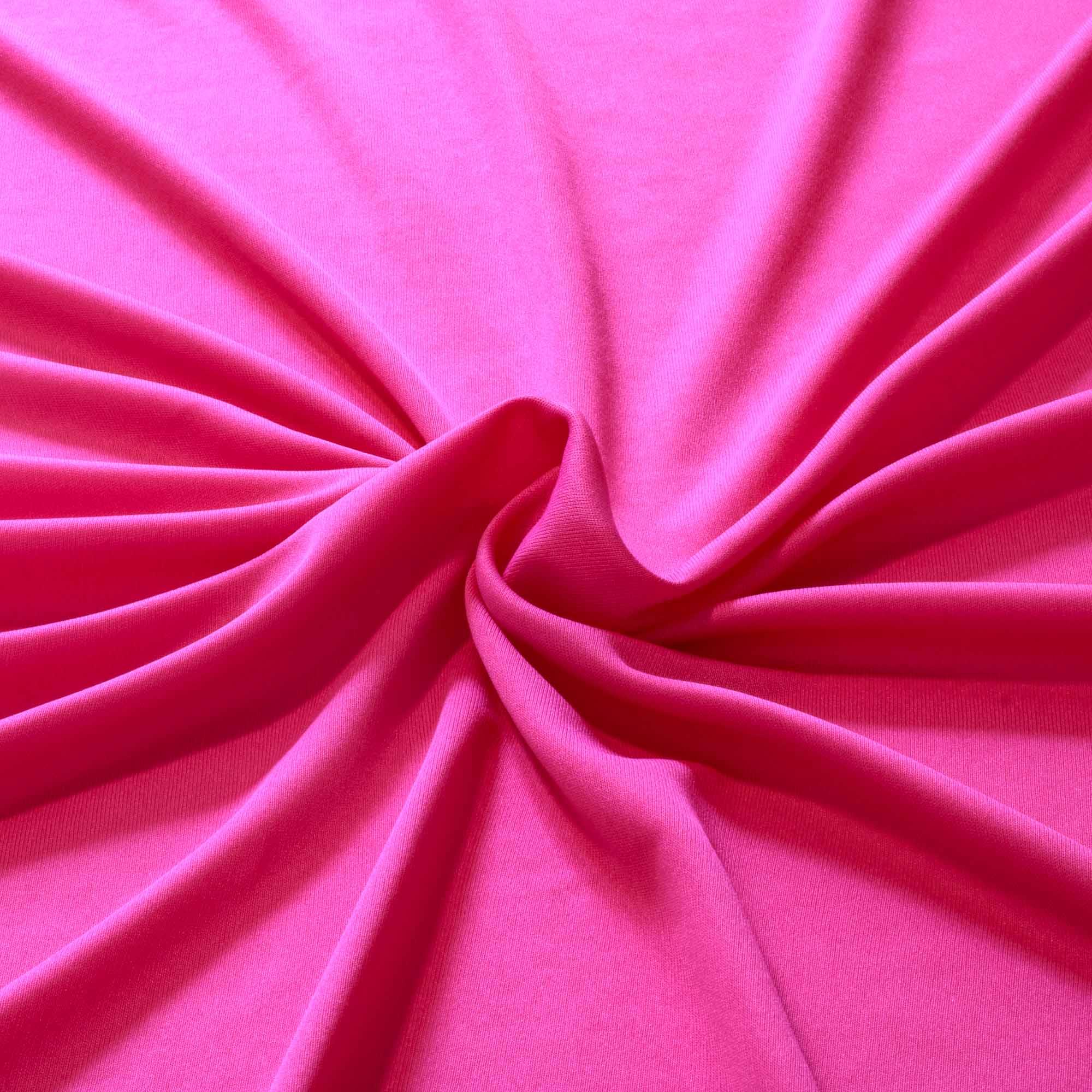 Tecido Malha Helanca Light Rosa Pink 100% Poliester 1,80 m Largura