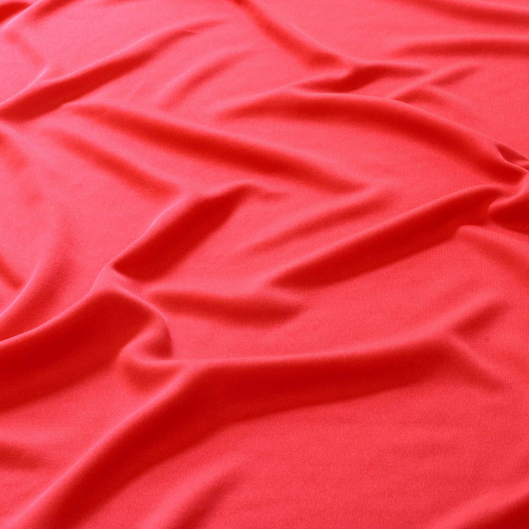 Tecido Malha Helanca Light Vermelho Cereja 100% Poliester 1,80 m Largura