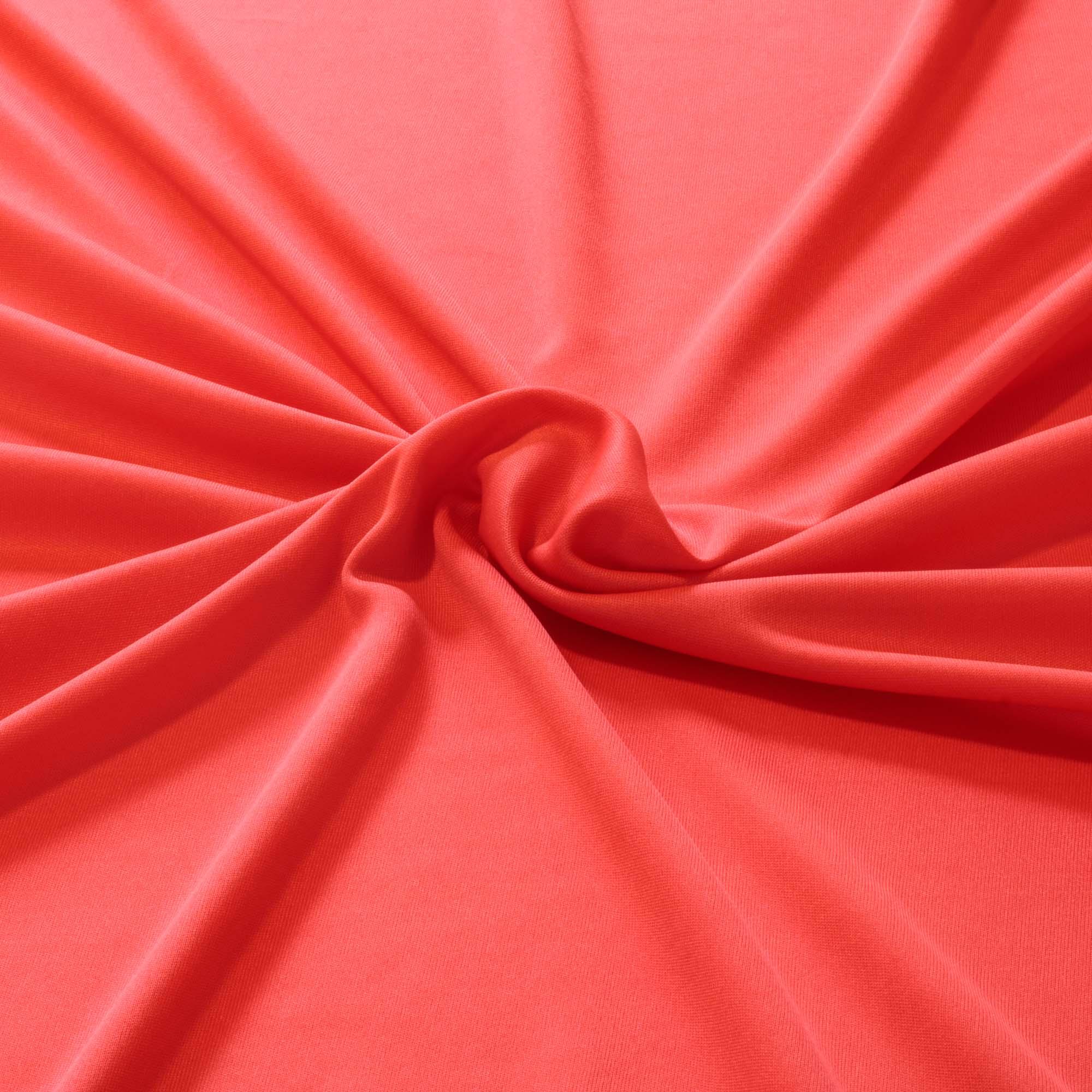 Tecido Malha Helanca Light Vermelho Cereja 100% Poliester 1,80 mt Largura