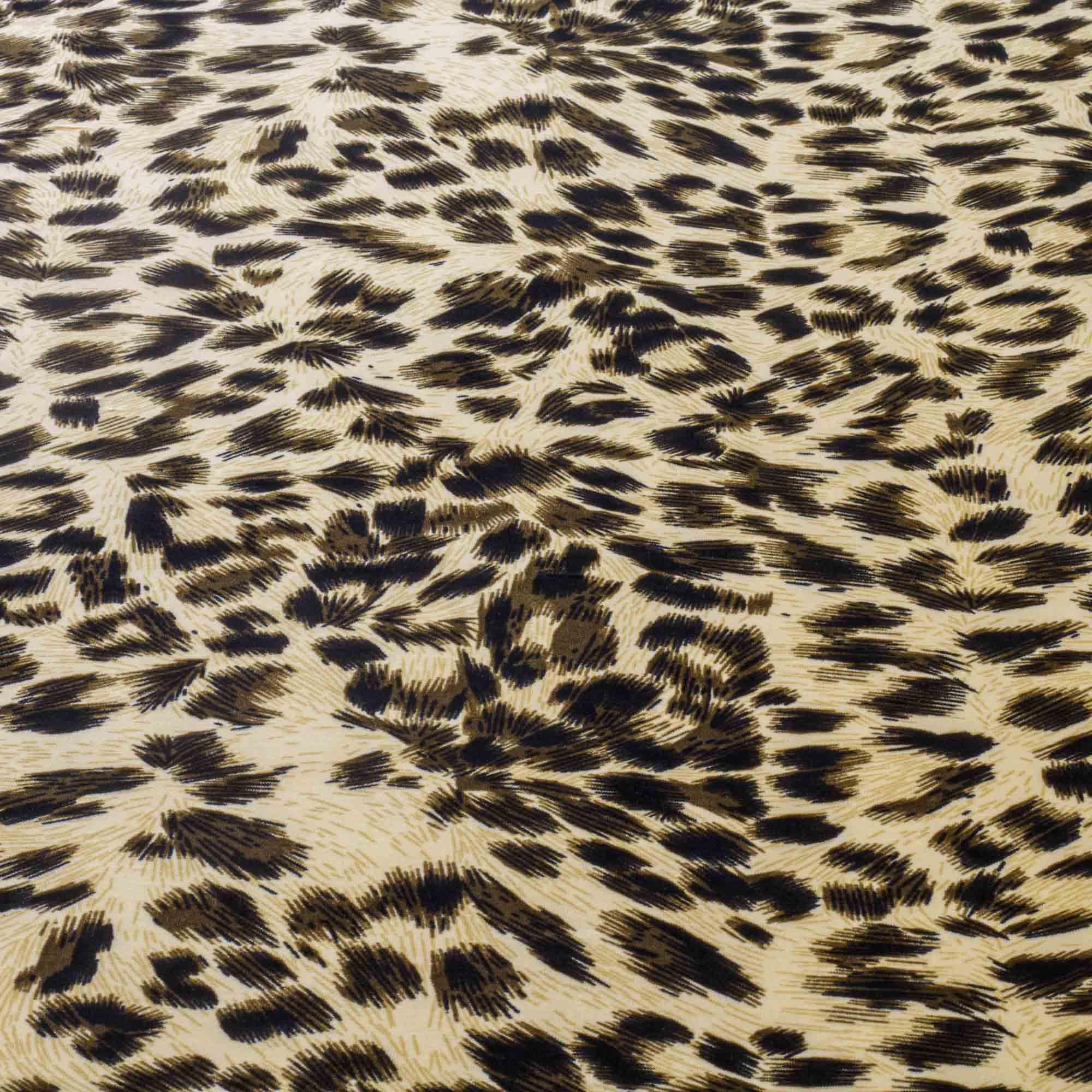 Tecido Malha Liganete Estampada Pele 96% Poliester 4% Elastano 1,50 Mt Largura Amarelo/Cd