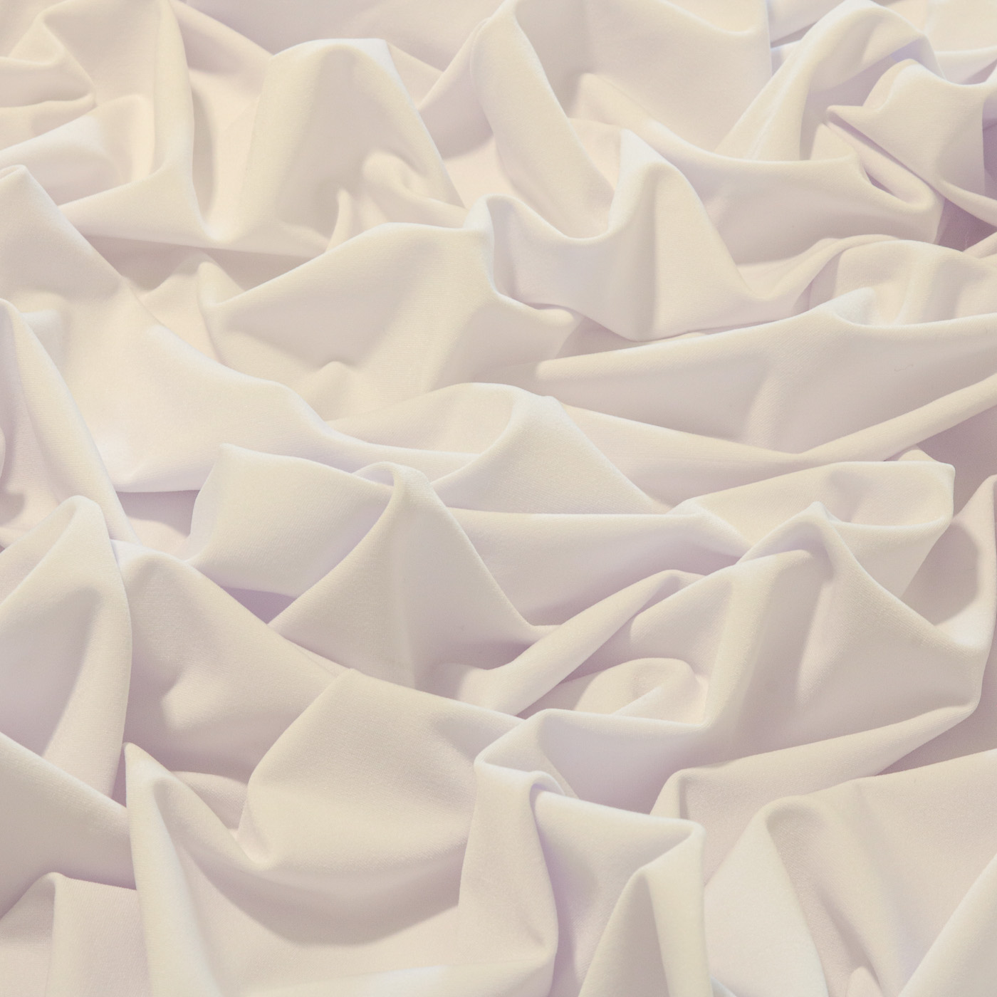 Tecido Malha Liganete Liso 96% Poliéster 4% Elastano  Branco