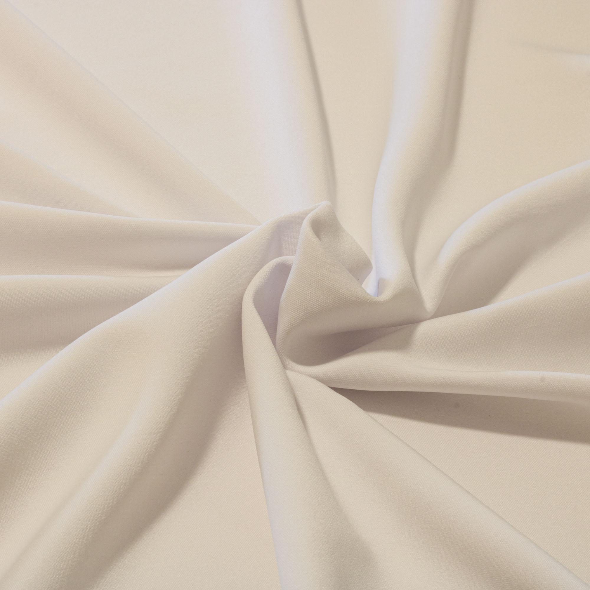 Tecido Malha Neoprene Liso 93% Poliéster 7% Elastano  Branco