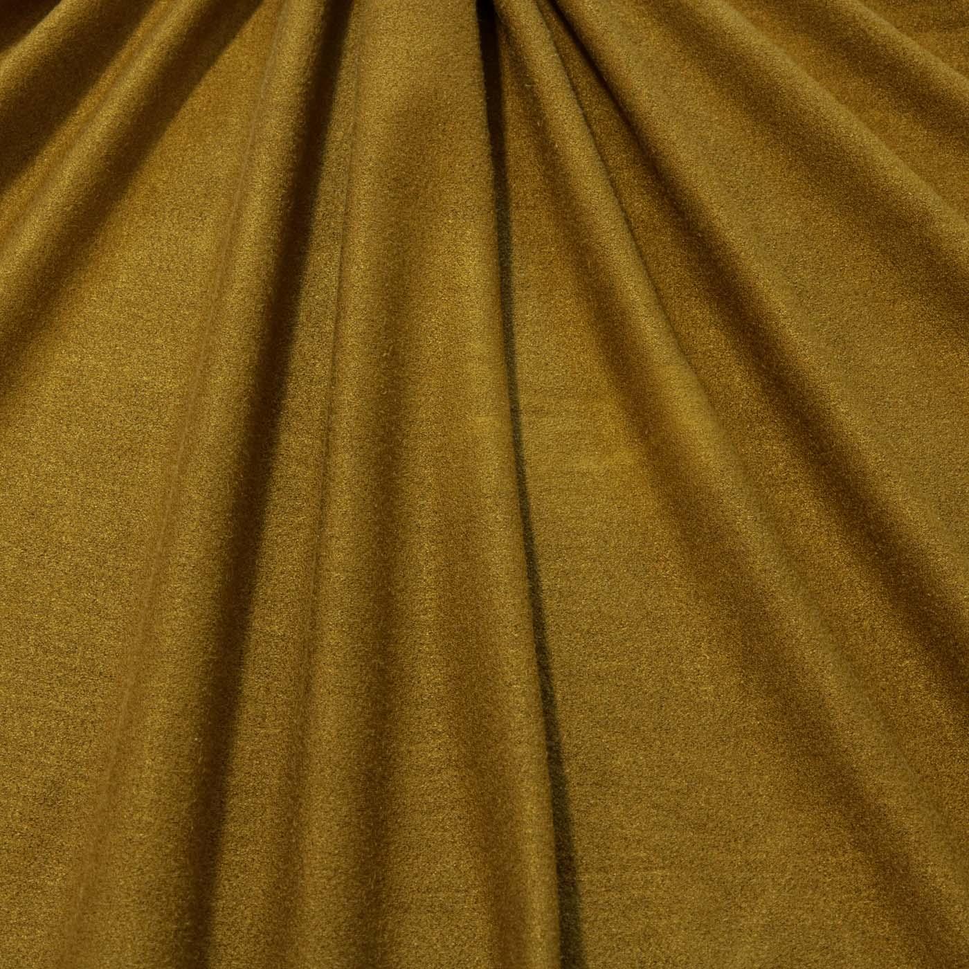 Tecido Malha Suede Mostarda Toque de Pele Lisa Com Elastano