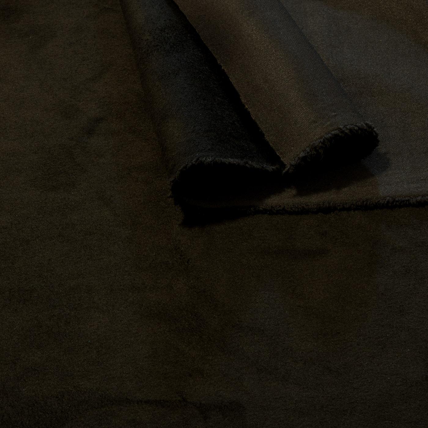 Tecido Malha Suede Preto Liso Neo Scuba Lisa Com Elastano