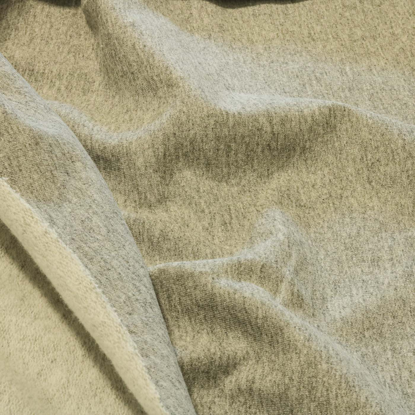 Tecido Moletinho Flanelado Liso 100% Algodão Cinza Mesclado