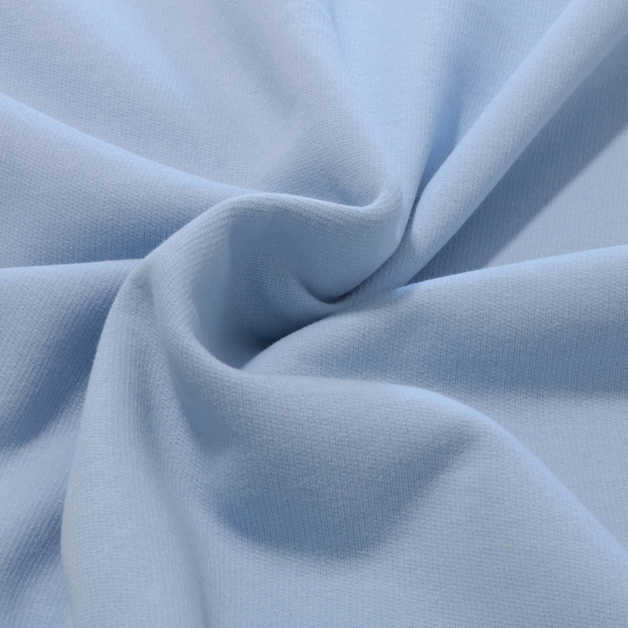 Tecido Moletom 100% Algodão 2 Mt Largura Azul Bebe