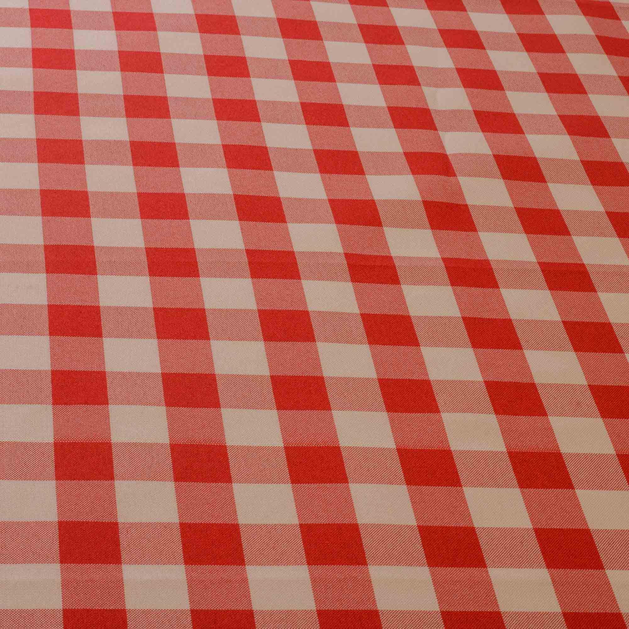 Tecido Oxford Xadrez Vermelho Quadrado de 2 cm x 2 cm 100% Poliester 1,50 Mt Largura
