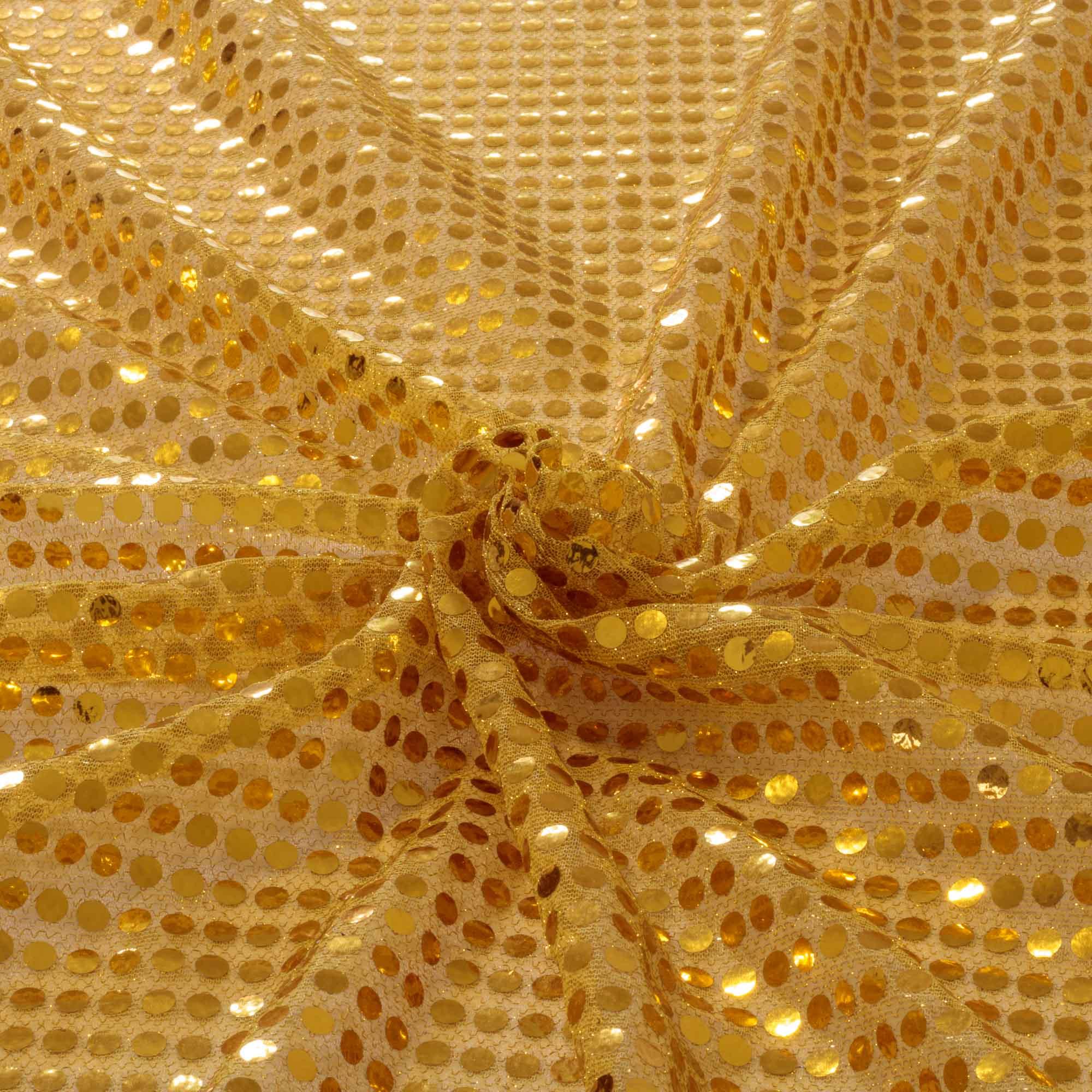 Tecido Paete Amarelo Ouro 1,00 Mt Largura