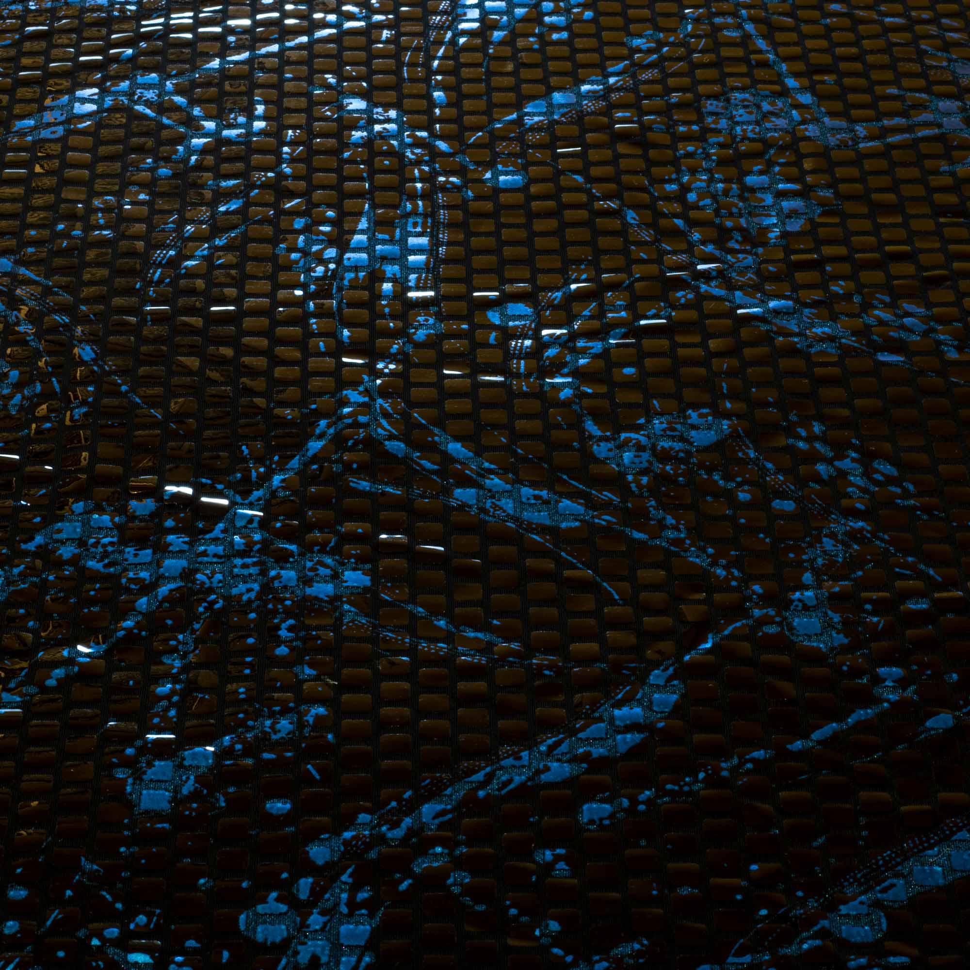 Tecido Paete Azul 1,60 Mt Largura Fundo Preto