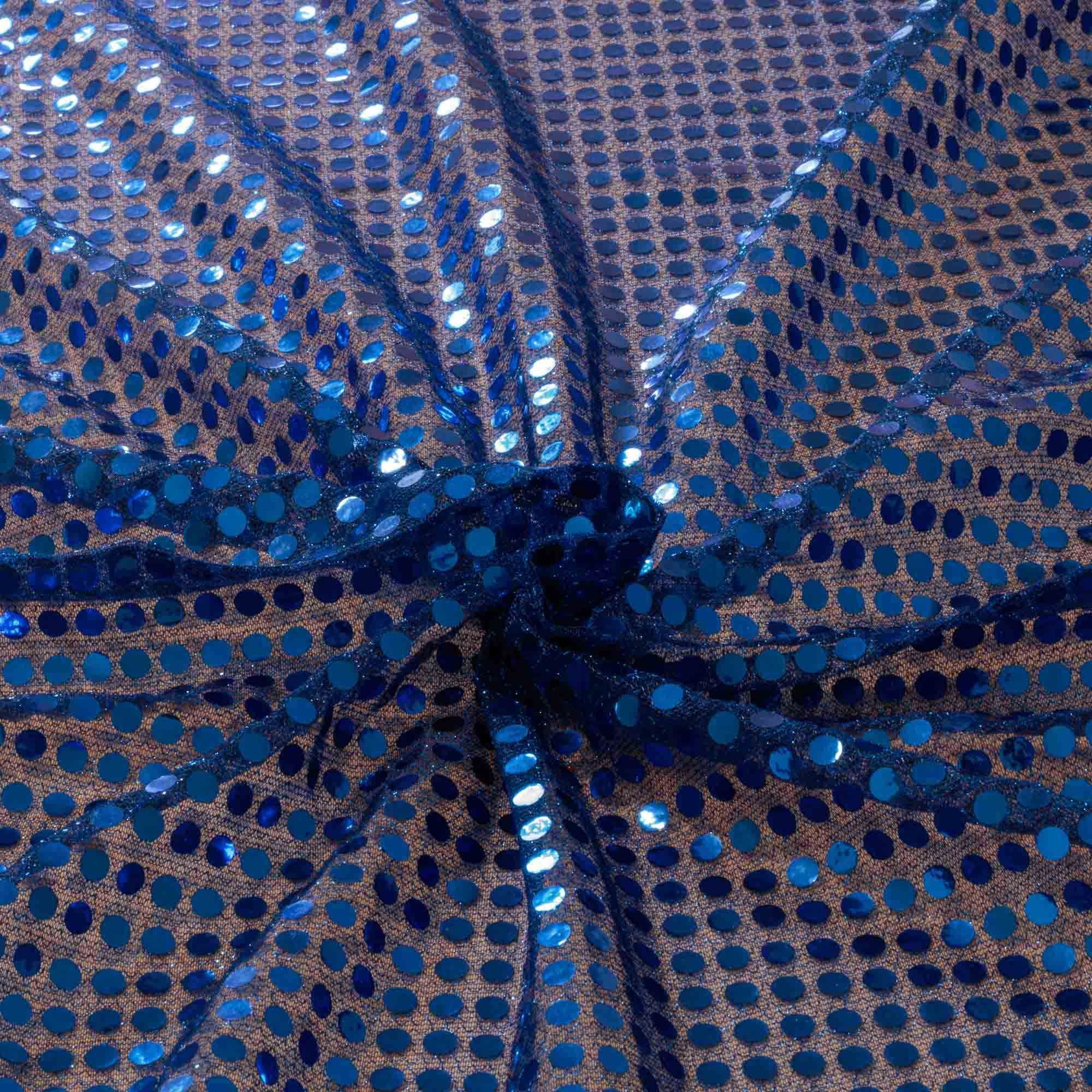 Tecido Paete Azul Royal 1,00 Mt Largura