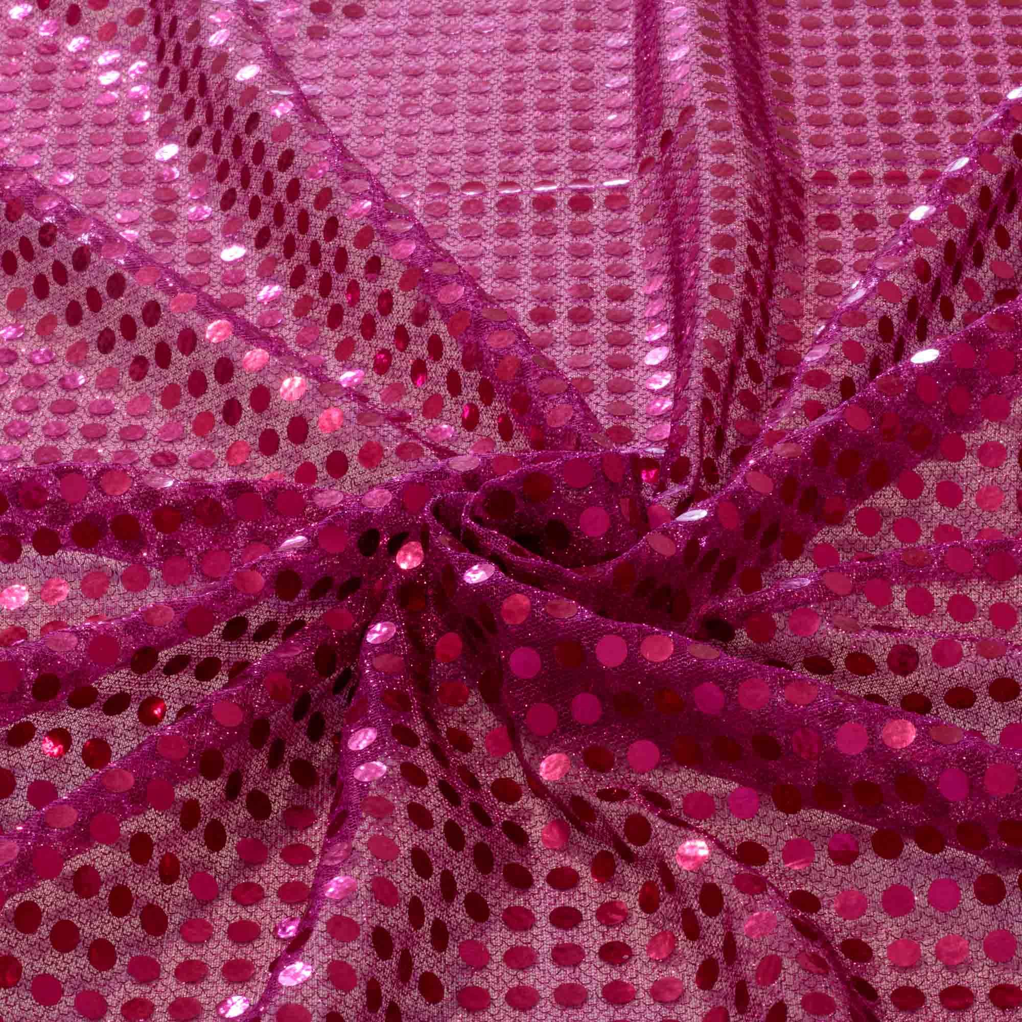 Tecido Paete Rosa Pink 1,00 Mt Largura