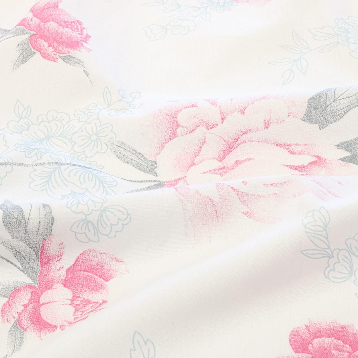 Tecido Percal Estampado 180 Fios 100% Algodão 2,50 m Flores Rosa