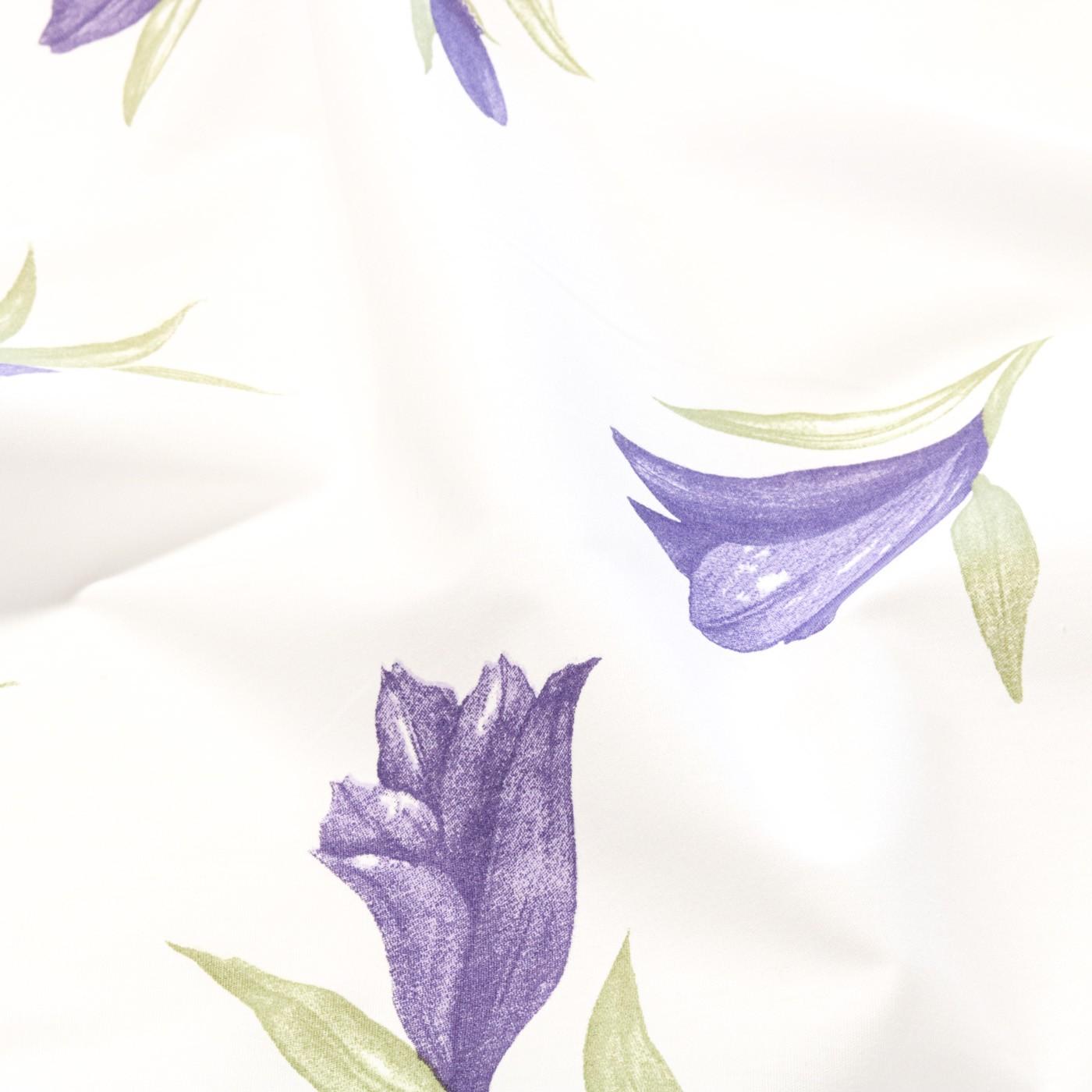 Tecido Percal Estampado 180 Fios 2,50 m Largura Flores Lilas