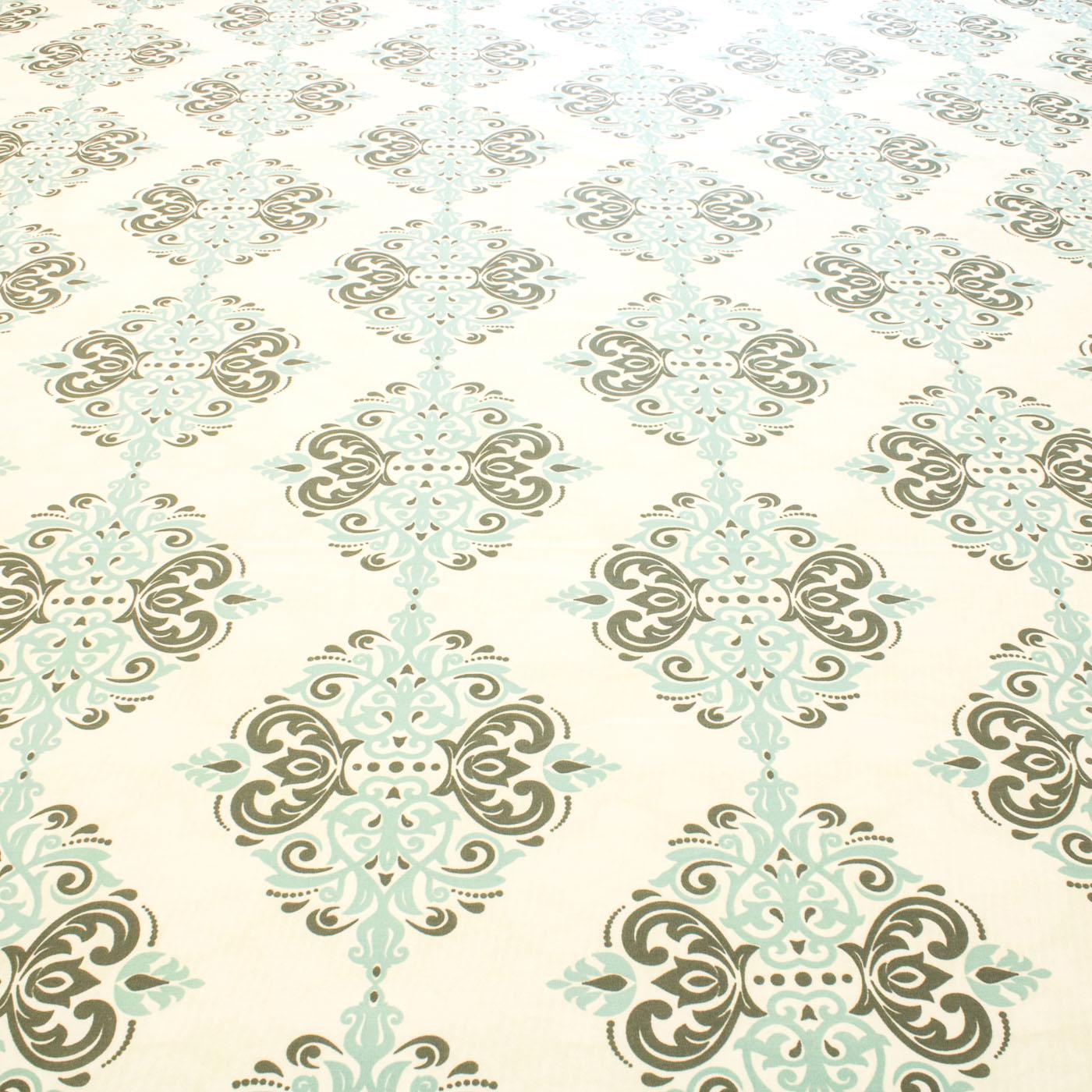 Tecido Percal Estampado Geometrico 180 Fios 2,50 m Azul Tiffany