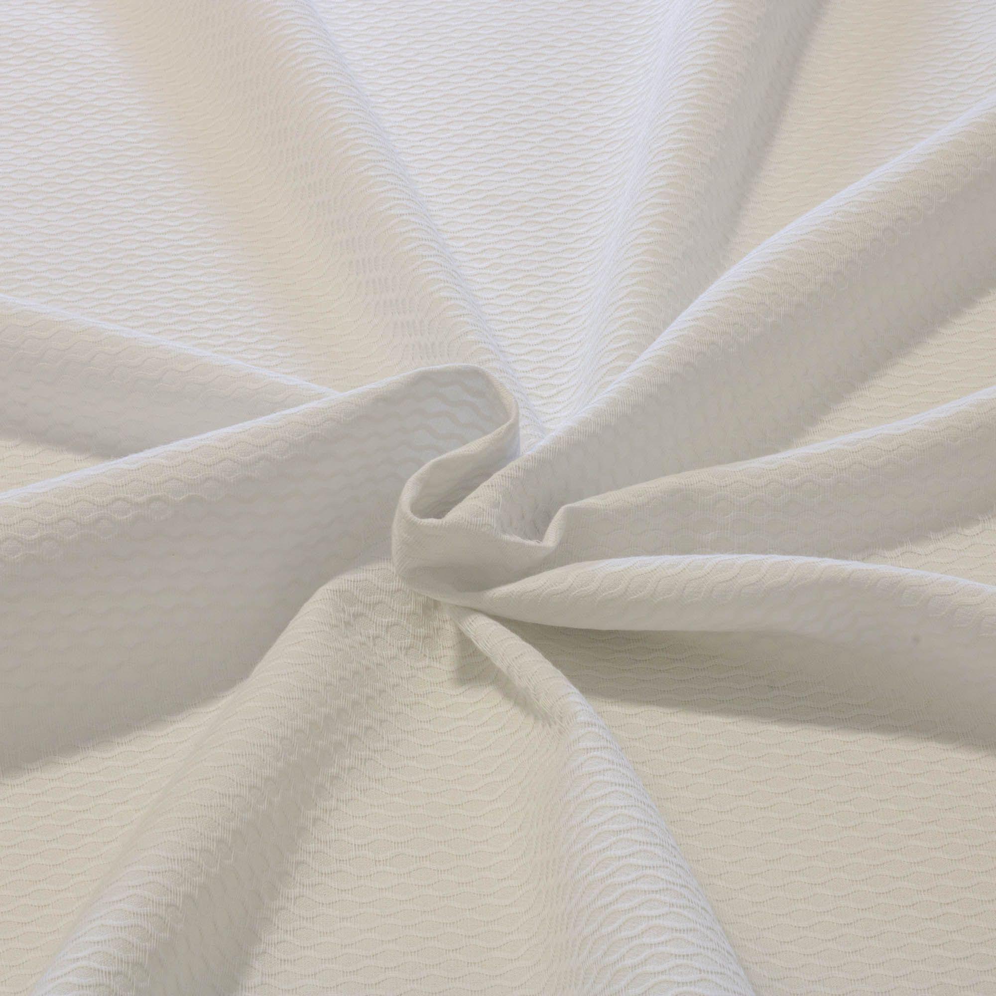 Tecido Piquet Bordado Dohler 100% Algodao 1,40 Mt Largura Branco