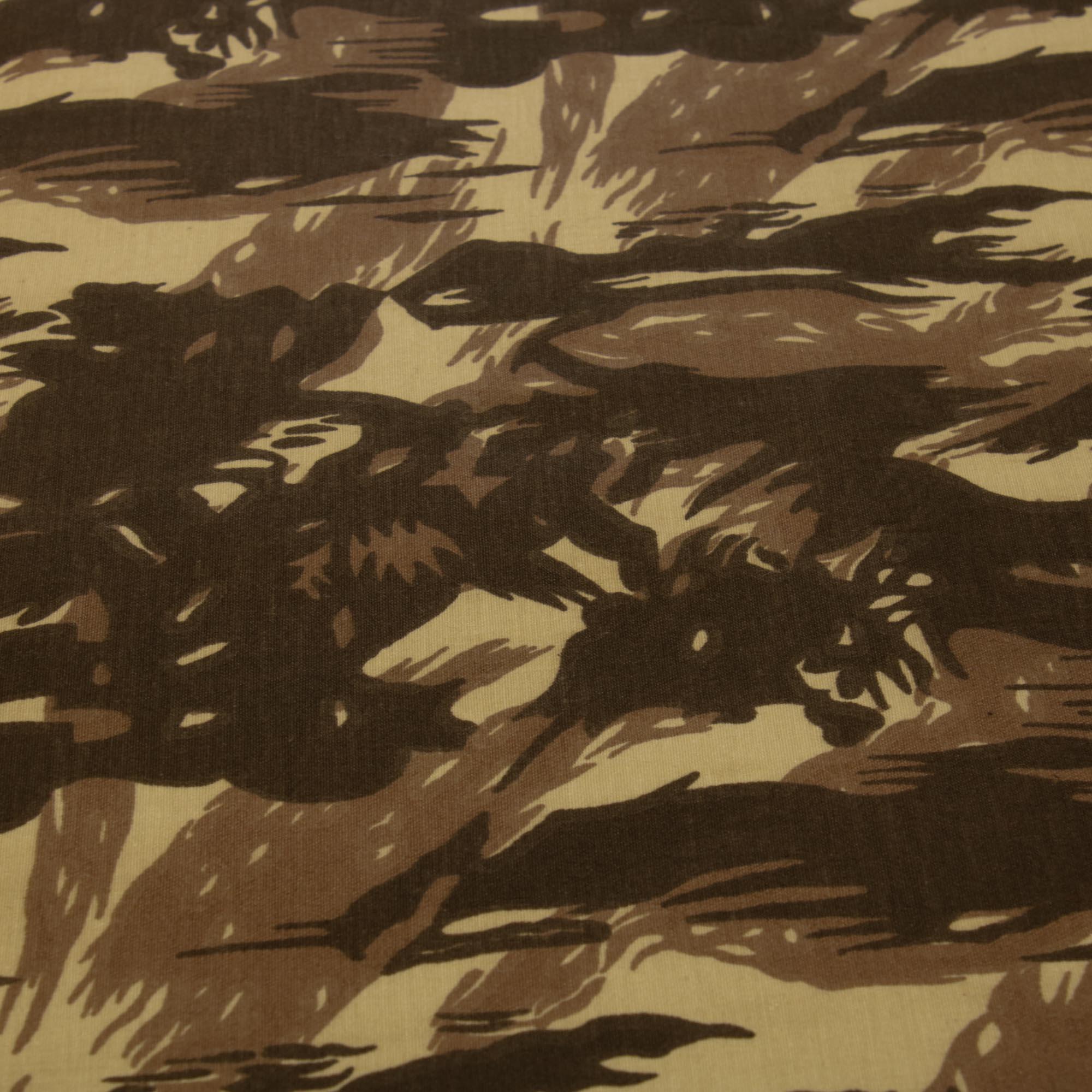 Tecido Sarja Camuflado Marrom 100% Algodão 1,60 Mt Largura