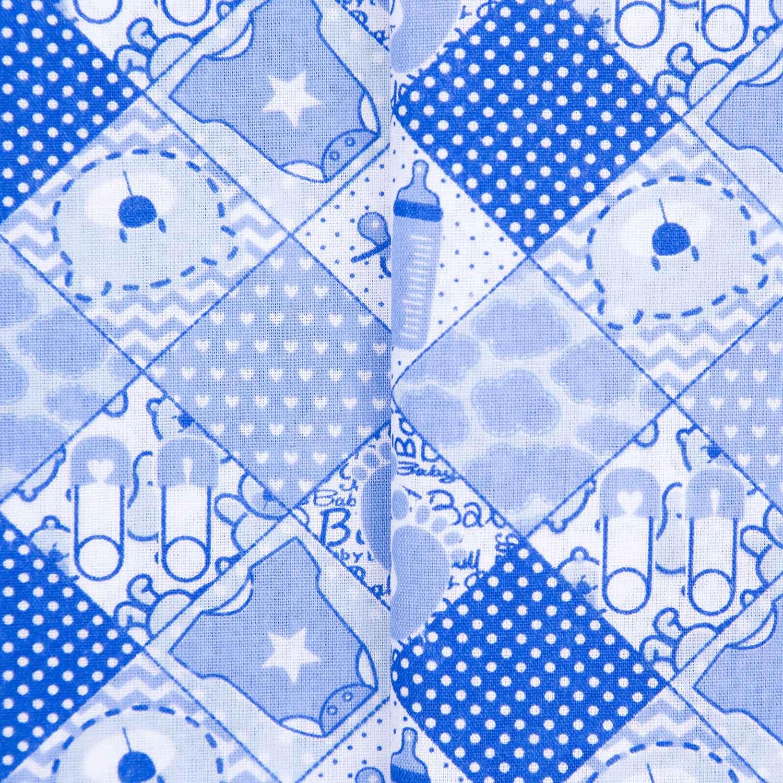 Tecido Tricoline Infantil Misto Estampado 50% Algodao 50% Poliester 1,40 Mt Largura Bebe Azul