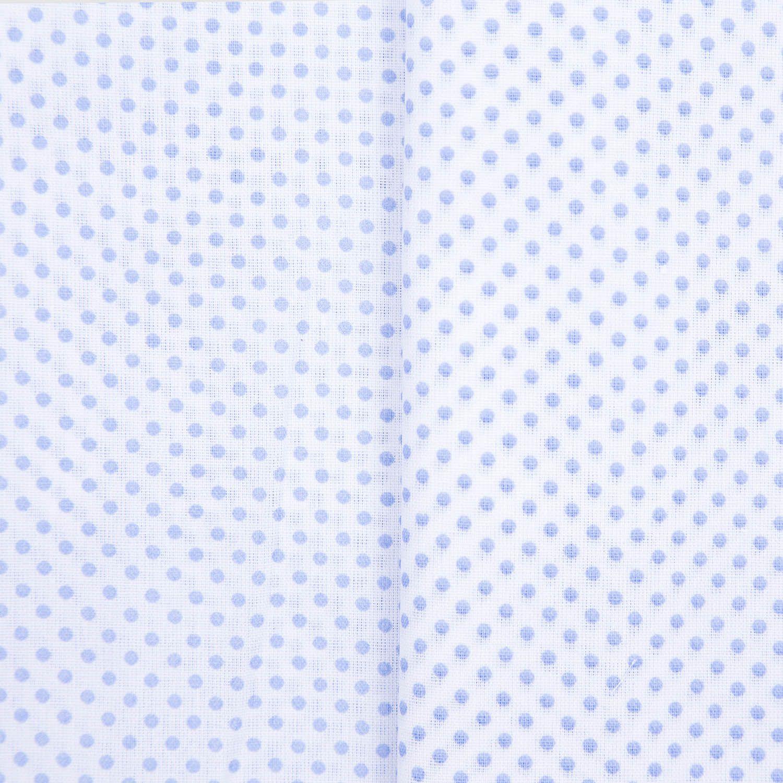 Tecido Tricoline Misto Estampado Poa Bolinhas 50% Algodao 50% Poliester 1,40 m Largura