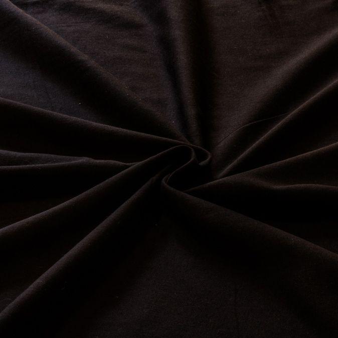 Tecido Tricoline Misto Preto 50% Algodao 50% Poliester 1,40 m Largura