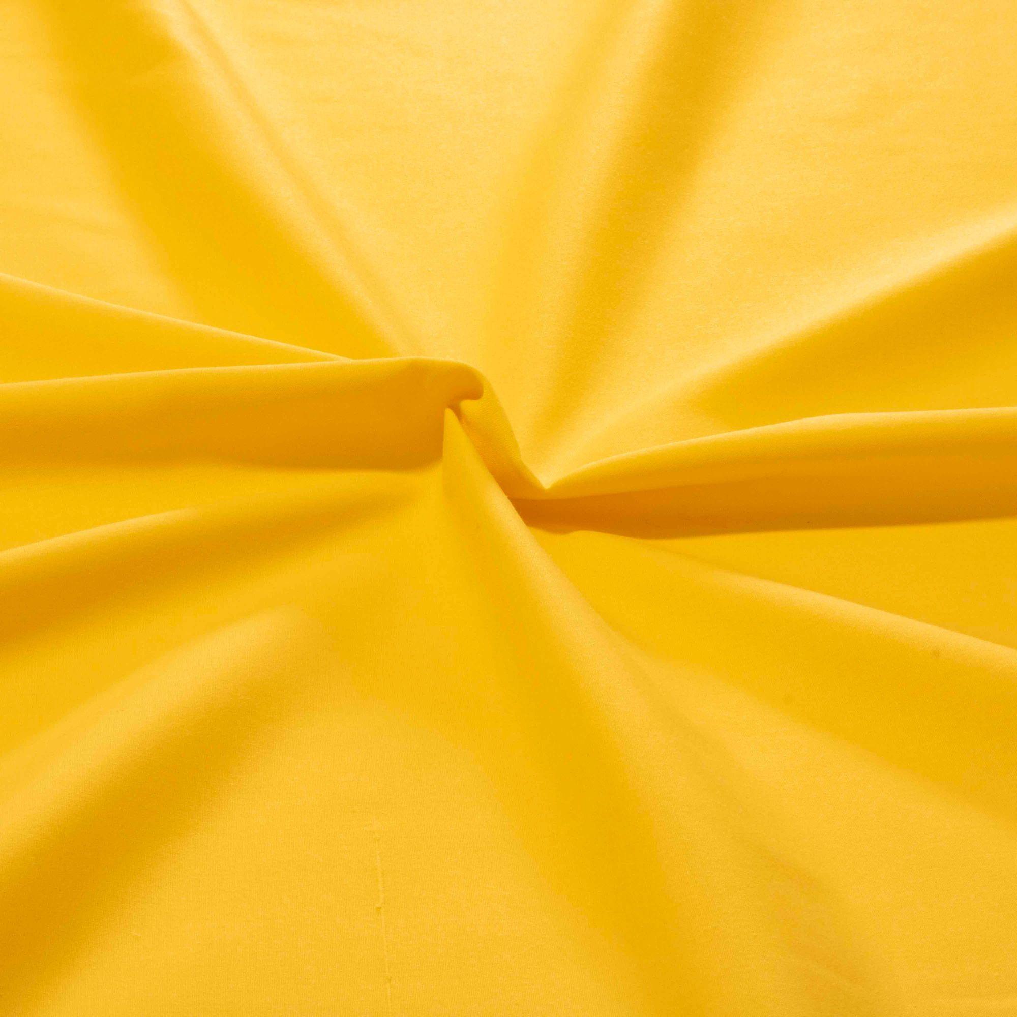 Tecido Tricoline Liso 100% Algodao 1,40 Mt Largura Amarelo Ouro
