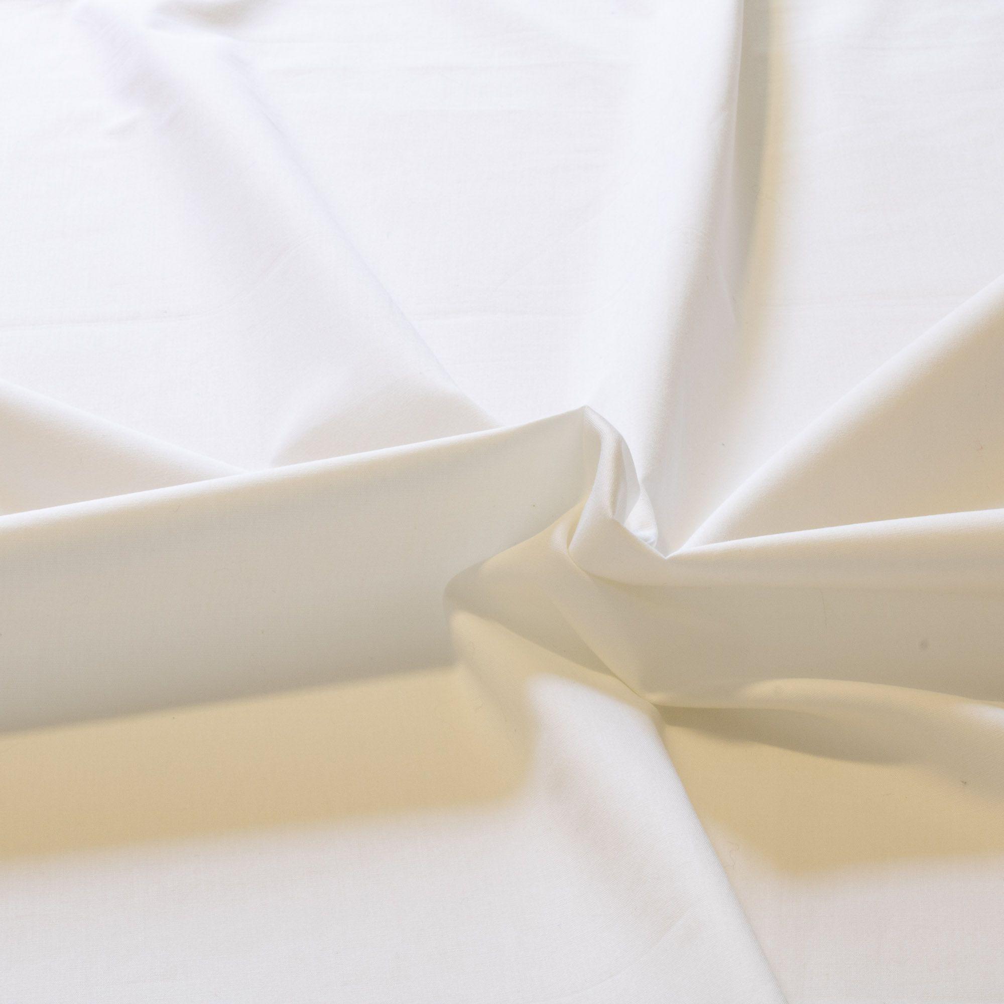 Tecido Tricoline 100% Algodao 1,50 Mt Largura Branco