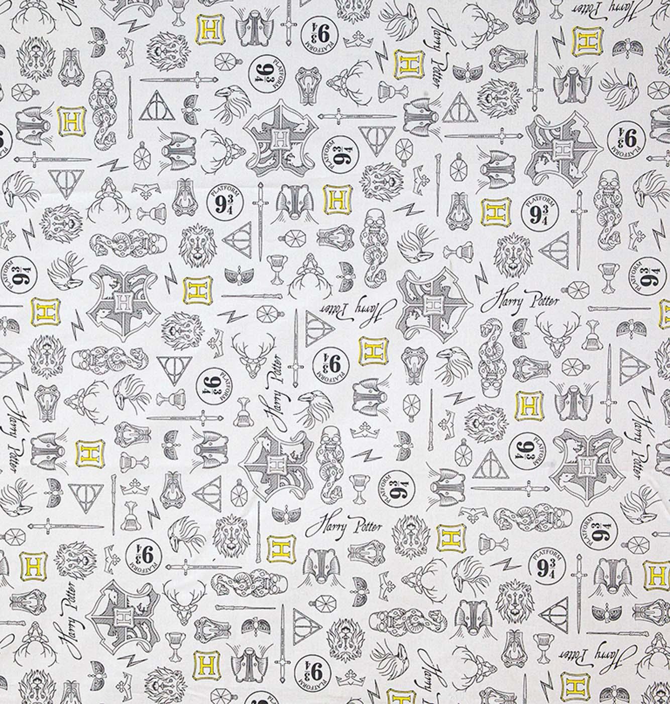 Tecido tricoline dohler 50x150cm 100% algodão harrypotter