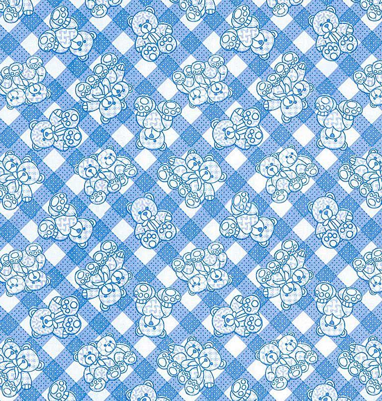 Tecido tricoline estampado dohler 100% algodão bebê azul