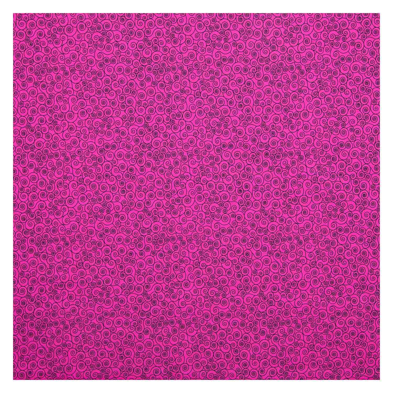 Tecido Tricoline Estampado Caracol Rosa Pink 100% Algodao 1,40 m Largura