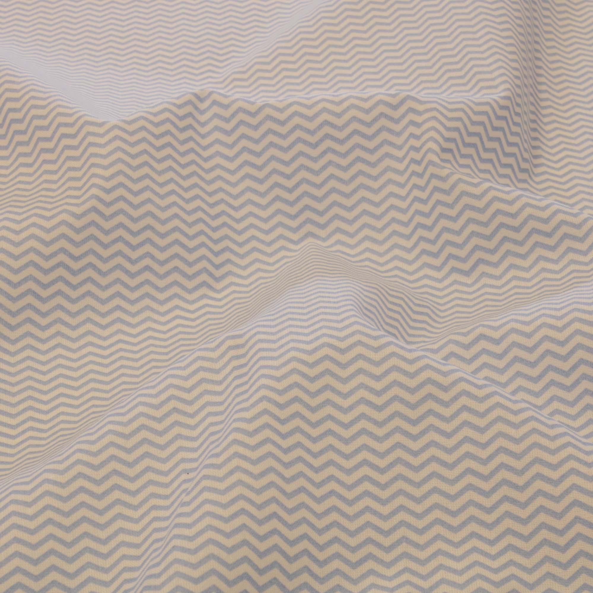 Tecido tricoline estampado chevron 1,40 m largura azul claro