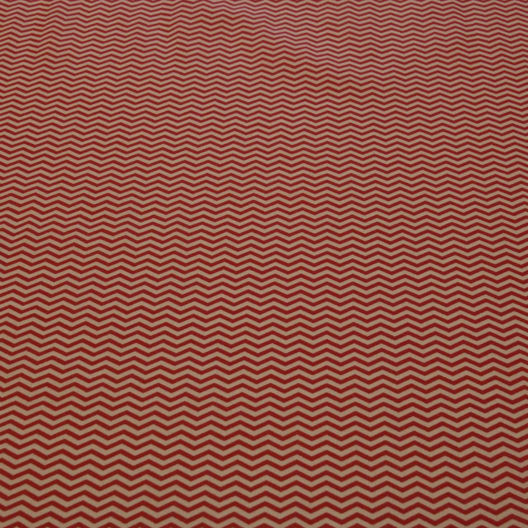 Tecido tricoline estampado chevron 1,40 m largura vermelho