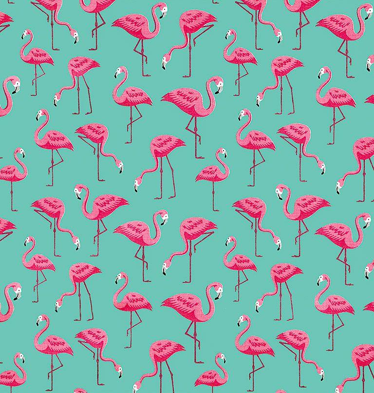 Tecido tricoline estampado dohler 100% algodão flamingo