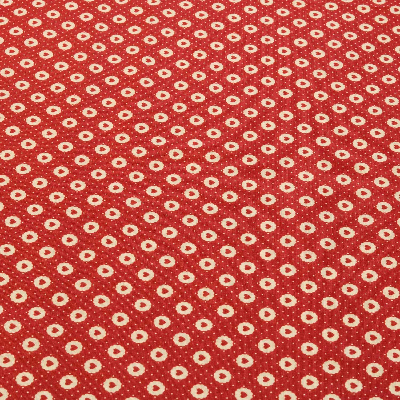 Tecido Tricoline Estampado Coração 1,40 m Largura Vermelho
