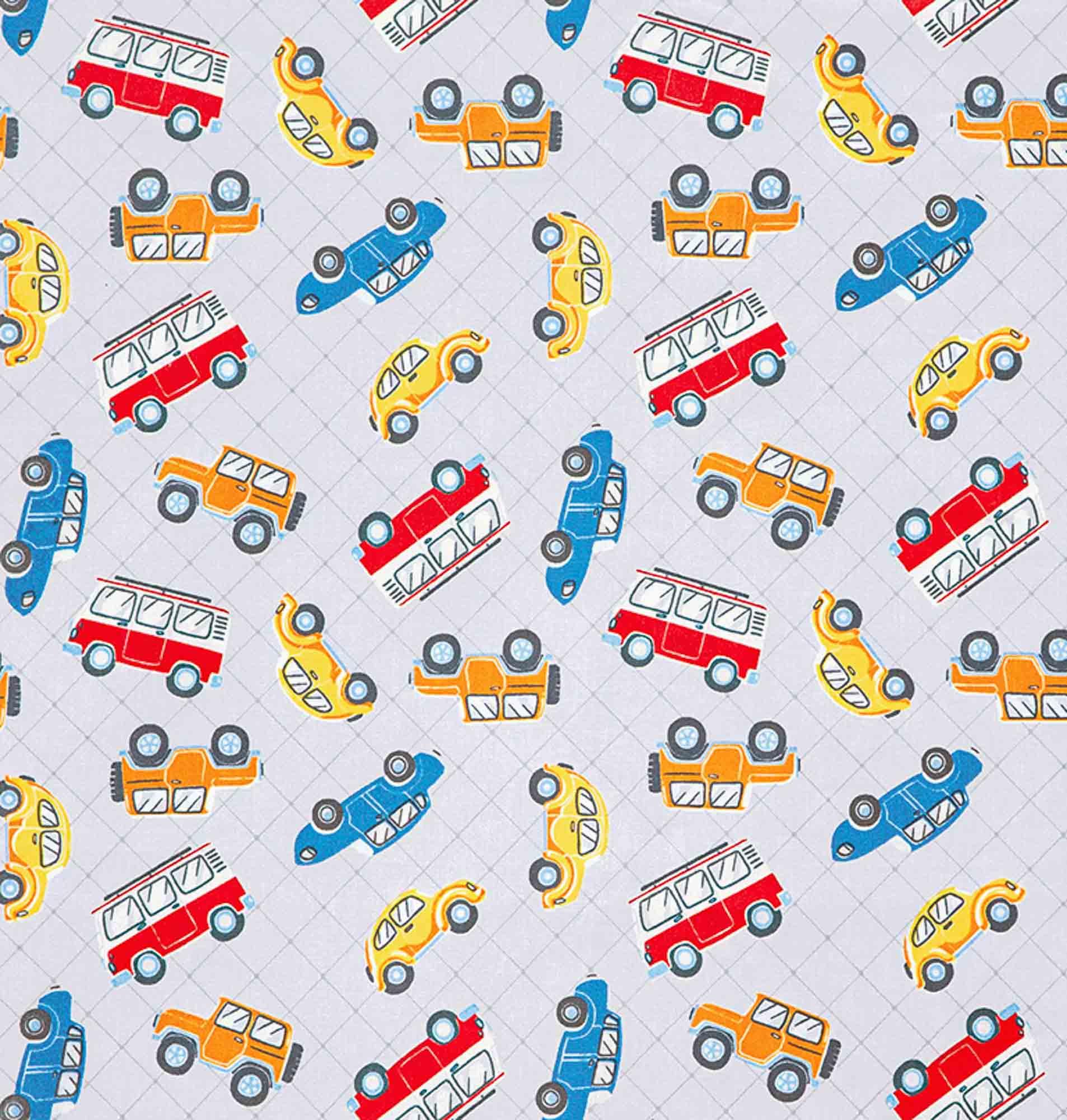 Tecido tricoline estampado dohler 100% algodão carros