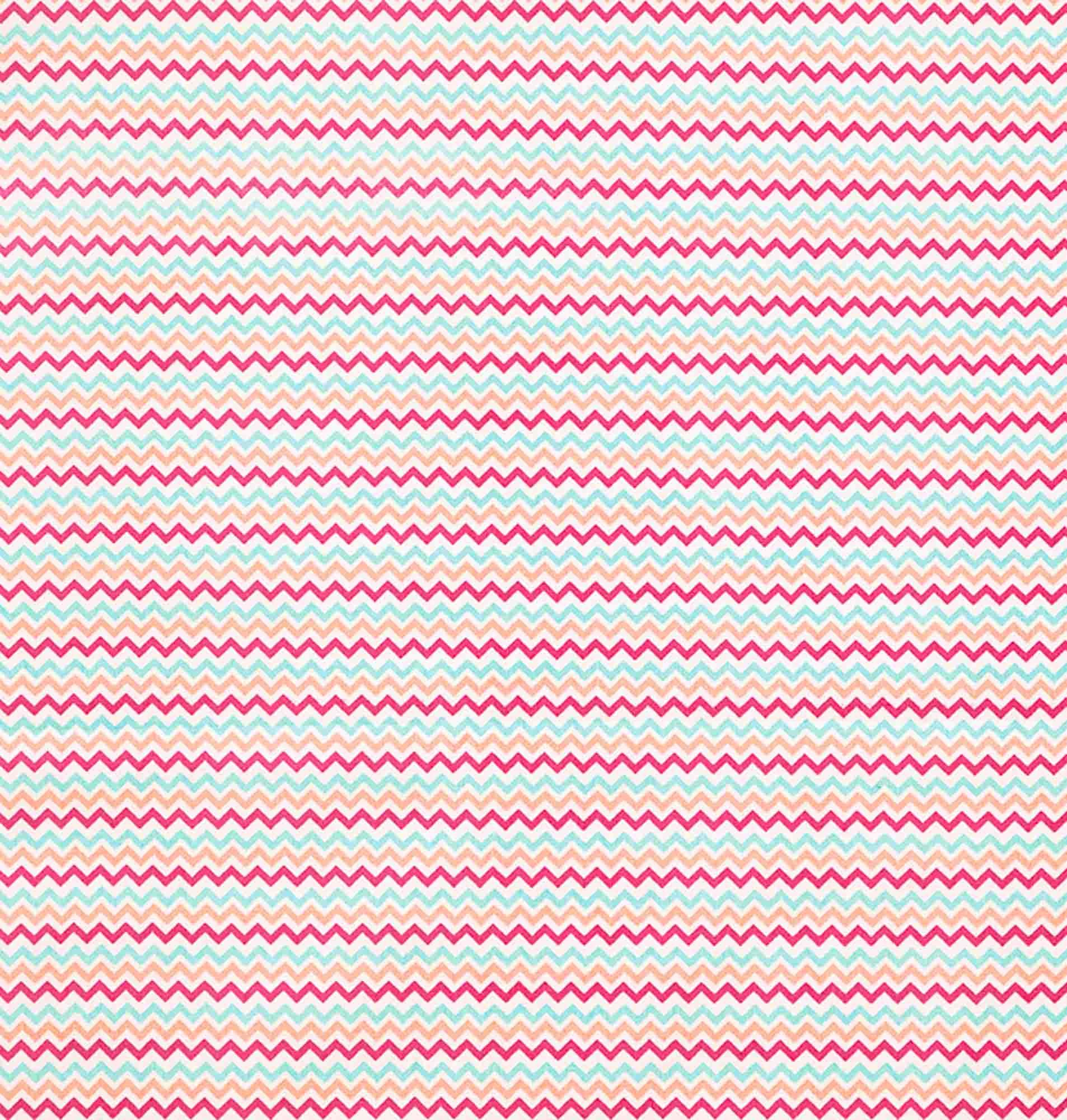 Tecido tricoline estampado dohler 100% algodão chevron rosa cd