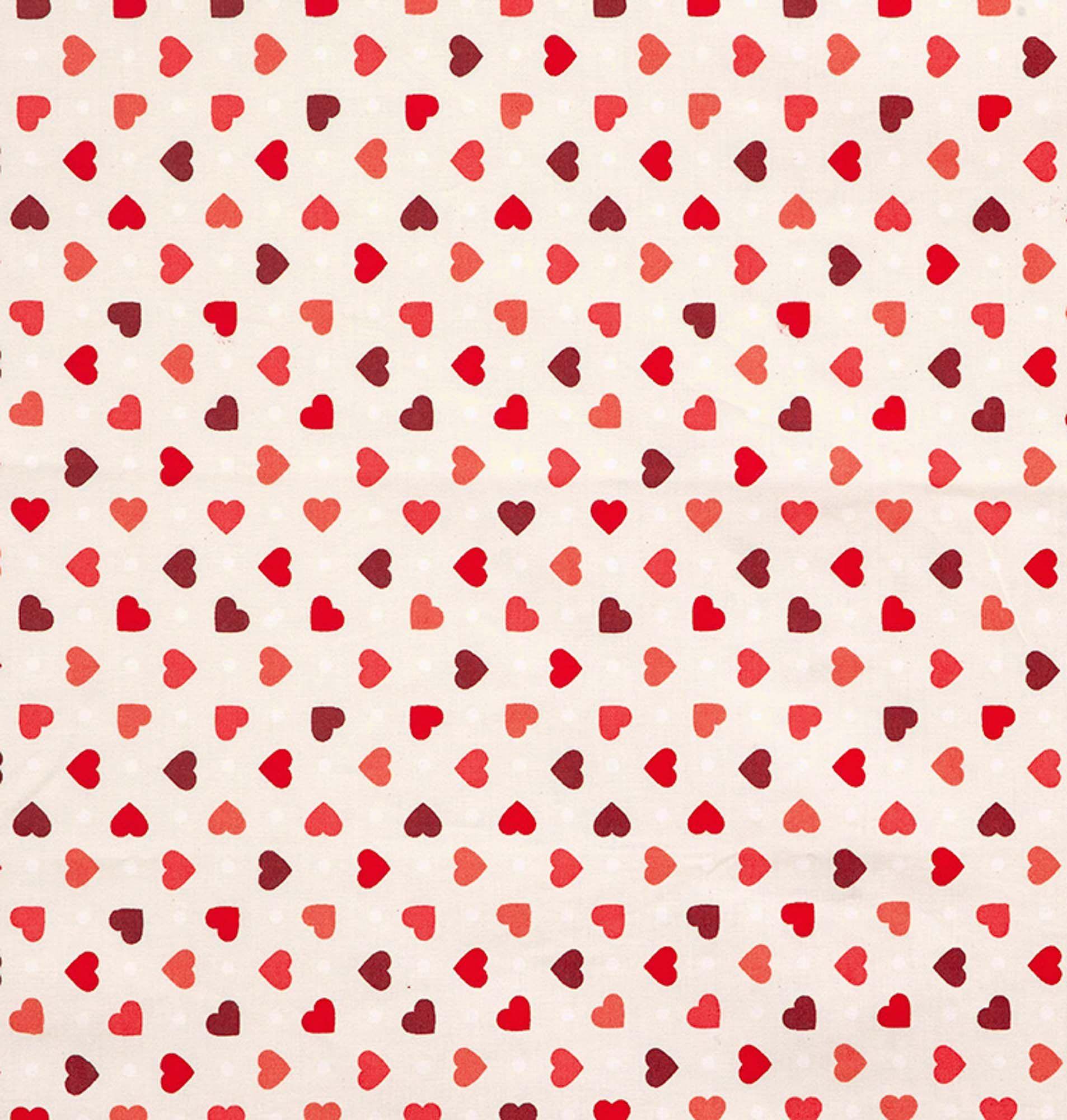 Tecido tricoline estampado dohler 100% algodão corações