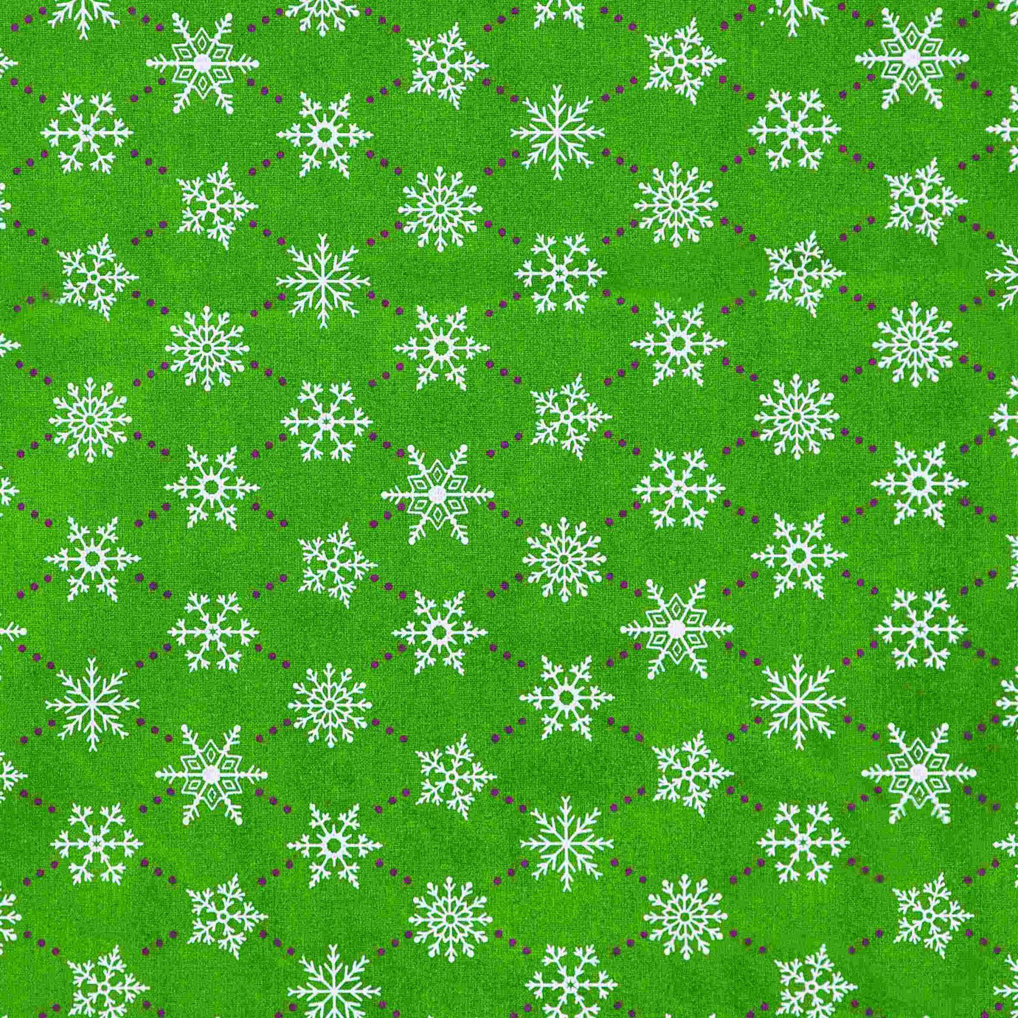 Tecido tricoline estampado dohler 100% algodão natal verde