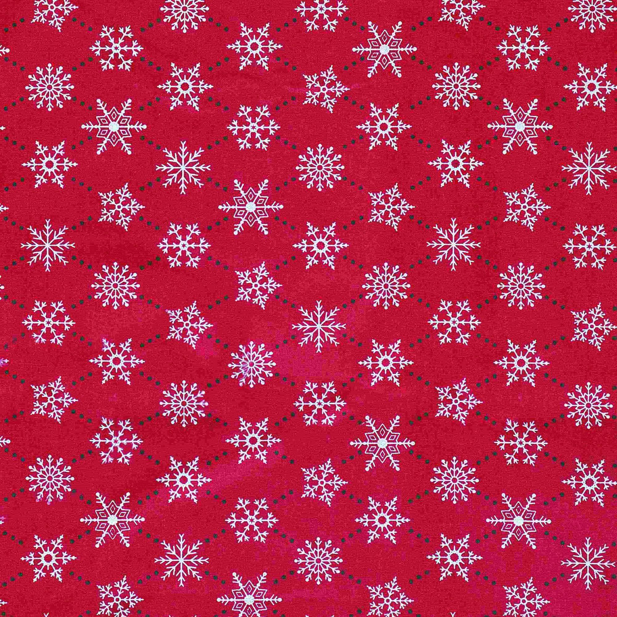 Tecido tricoline estampado dohler 100% algodão natal vermelho