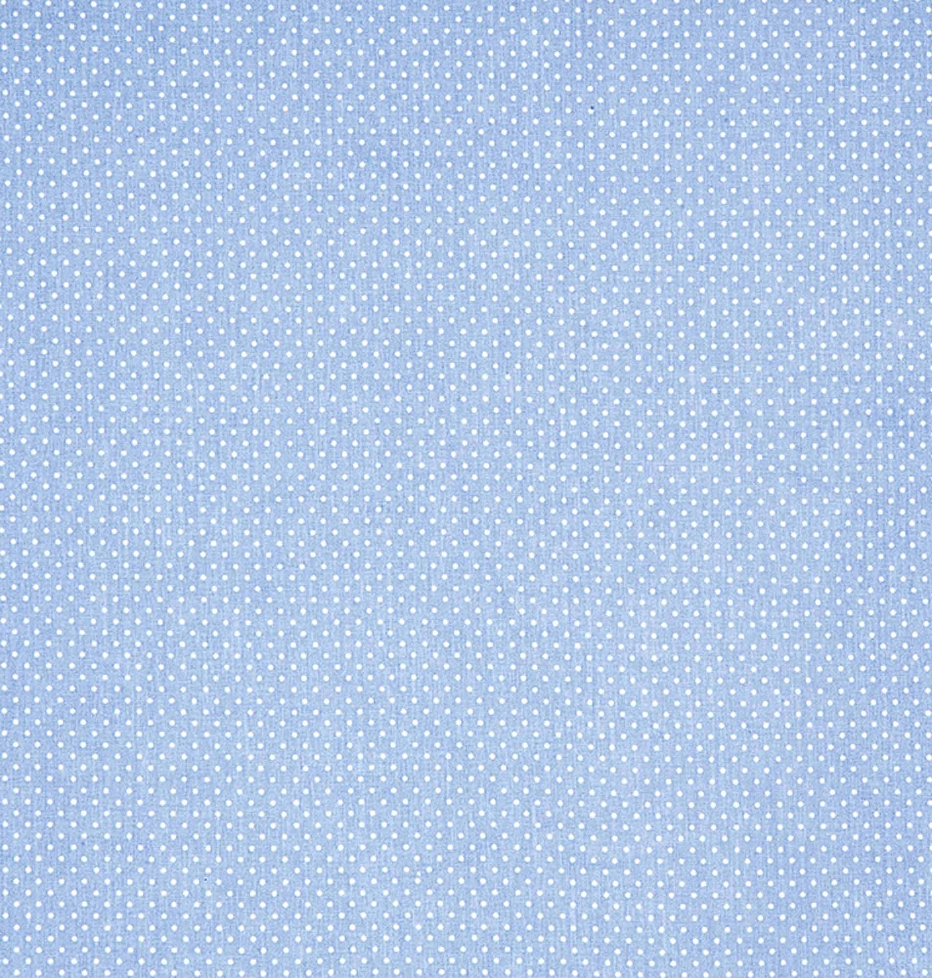Tecido tricoline estampado dohler 100% algodão poa azul/bebê