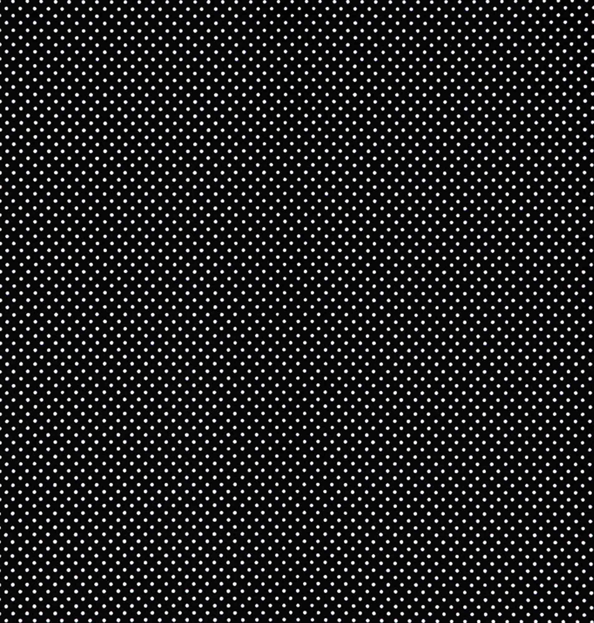 Tecido tricoline estampado dohler 100% algodão poa preto