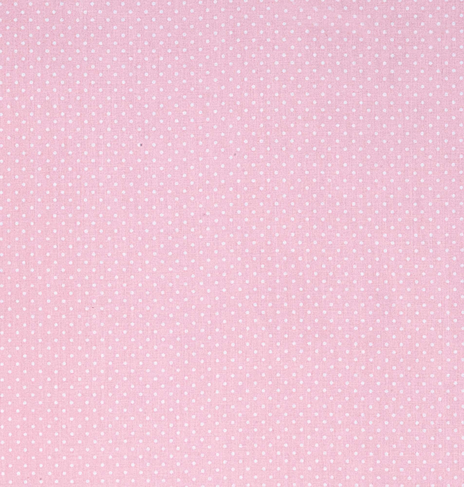 Tecido tricoline estampado dohler 100% algodão poa rosa/bebê