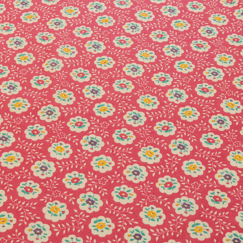 Tecido Tricoline Estampado Flores 1,40 Mt Largura Rosa Pink