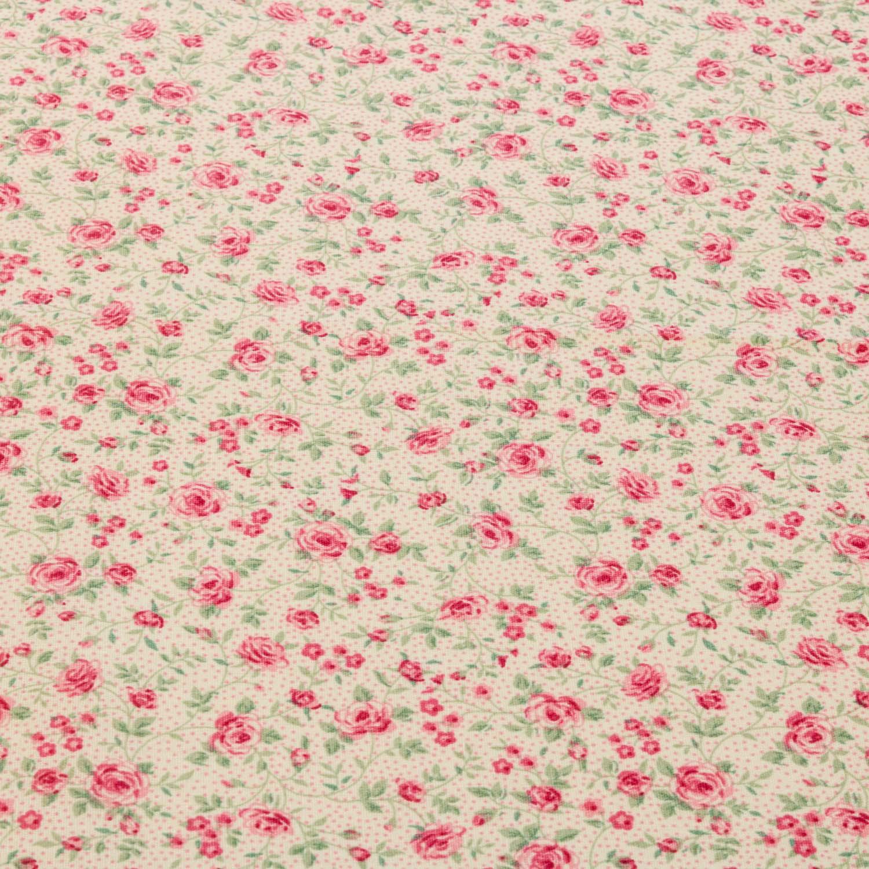 Tecido Tricoline Estampado Flores 1 Metro x 1,40 Mt Rosa