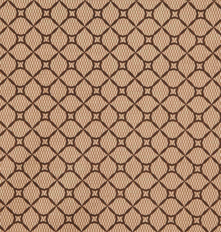 Tecido tricoline estampado geometrico 100% algodão marrom