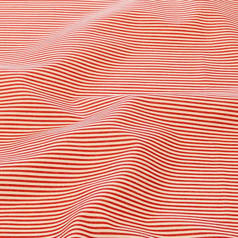 Tecido Tricoline Estampado Listrado 1 Metro x1,40Mt Vermelho